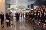 Foreign Minister Dr. David Tawei Lee (Second from left) greets the newly recruited diplomatic and administrative personnel.jpg