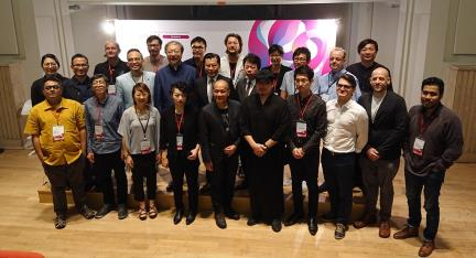 Group photo of Representative Francis Liang and the judges from 11 countries at the Preliminary Screening of the Taiwan International Student Design Competition 2018