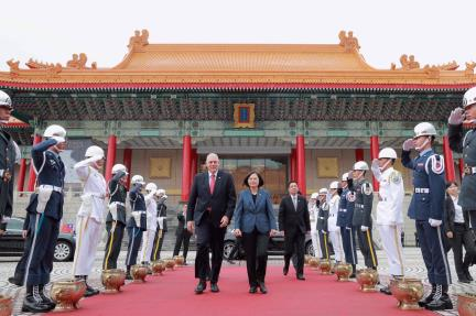 Prime Minister Chastanet receives full military honors presided over by President Tsai