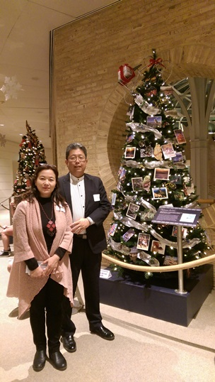 Director General Liu and Mrs. Liu with Taiwan R.O.C. Christmas Tree