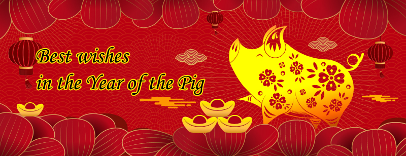 Best wishes in the Year of the Pig