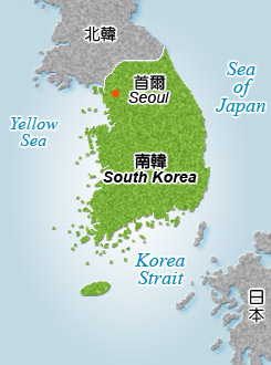 Republic of Korea Map